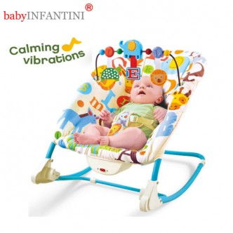 babyINFANTINI - Balansoar 2 in 1 Happy Friends Blue