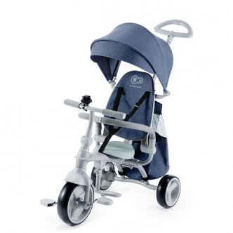 Kinderkraft - Tricicleta 4 in 1 Jazz Denim